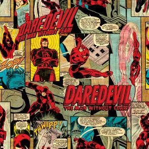 Marvel Comics Retro Pattern Design Featuring Daredevil