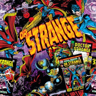 Marvel Comics Retro Pattern Design Featuring Dr. Strange