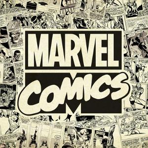 Marvel Comics Retro Pattern Design Featuring Marvel Comics (Retro)