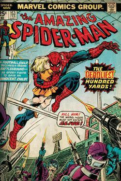 Marvel Comics Retro: The Amazing Spider-Man Comic Book Cover No.153 (aged)