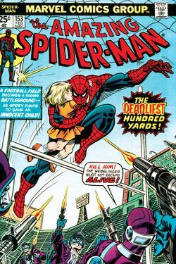 Marvel Comics Retro: The Amazing Spider-Man Comic Book Cover No.153, The Deadliest Hundred Yards
