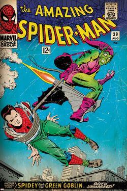 Marvel Comics Retro: The Amazing Spider-Man Comic Book Cover No.39, Green Goblin (aged)