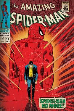 Marvel Comics Retro: The Amazing Spider-Man Comic Book Cover No.50, Spider-Man No More! (aged)