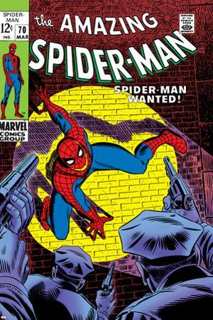 Marvel Comics Retro: The Amazing Spider-Man Comic Book Cover No.70, Wanted!