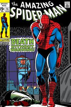 Marvel Comics Retro: The Amazing Spider-Man Comic Book Cover No.75, Death Without Warning!