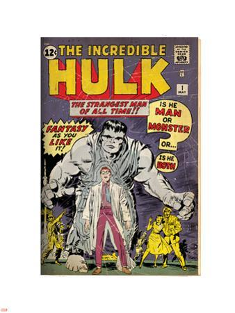 Marvel Comics Retro: The Incredible Hulk Comic Book Cover No.1, with Bruce Banner (aged)