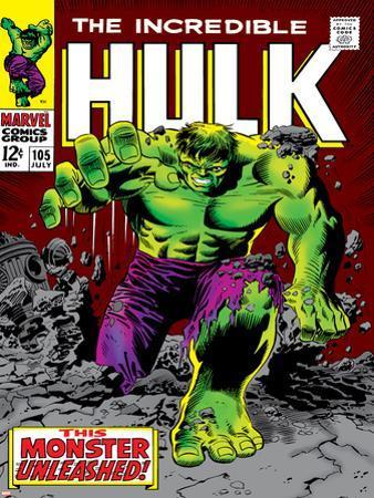 Marvel Comics Retro: The Incredible Hulk Comic Book Cover No.105