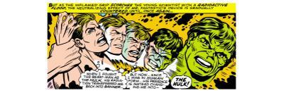 Marvel Comics Retro: The Incredible Hulk Comic Panel, Bruce Banner Transforming