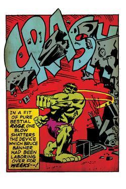 Marvel Comics Retro: The Incredible Hulk Comic Panel, Rage and Crash (aged)