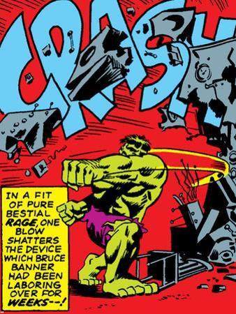 Marvel Comics Retro: The Incredible Hulk Comic Panel, Rage and Crash