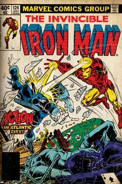 Marvel Comics Retro: The Invincible Iron Man Comic Book Cover No.124, Action in Atlantic City