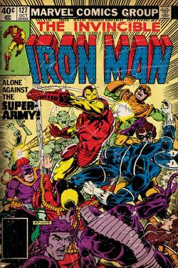 Marvel Comics Retro: The Invincible Iron Man Comic Book Cover No.127, Against the Super-Army!