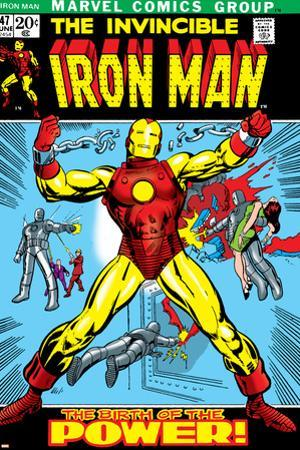 Marvel Comics Retro: The Invincible Iron Man Comic Book Cover No.47, Breaking Through Chains