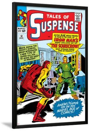 Marvel Comics Retro: The Invincible Iron Man Comic Book Cover No.51, Suspense- Facing the Scarecrow