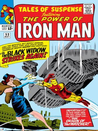 Marvel Comics Retro: The Invincible Iron Man Comic Book Cover No.53, Black Widow Strikes Again