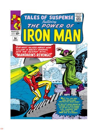 Marvel Comics Retro: The Invincible Iron Man Comic Book Cover No.54, Mandarin's Revenge!