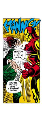 Marvel Comics Retro: The Invincible Iron Man Comic Panel, Fighting
