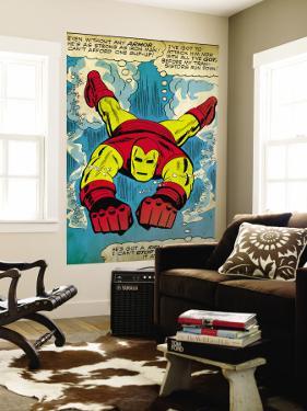 Marvel Comics Retro: The Invincible Iron Man Comic Panel, Swimming (aged)