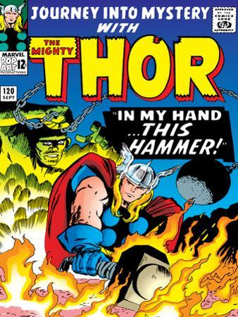 Marvel Comics Retro: The Mighty Thor Comic Book Cover No.120, Journey into Mystery; This Hammer