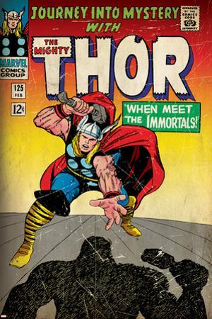 Marvel Comics Retro: The Mighty Thor Comic Book Cover No.125, Journey into Mystery (aged)