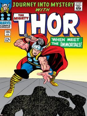 Marvel Comics Retro: The Mighty Thor Comic Book Cover No.125, Journey into Mystery