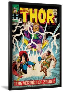 Marvel Comics Retro: The Mighty Thor Comic Book Cover No.129, The Verdict of Zeus, Hercules (aged)