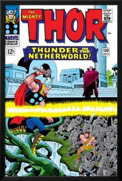 Marvel Comics Retro: The Mighty Thor Comic Book Cover No.130, Thunder in the Netherworld, Hercules