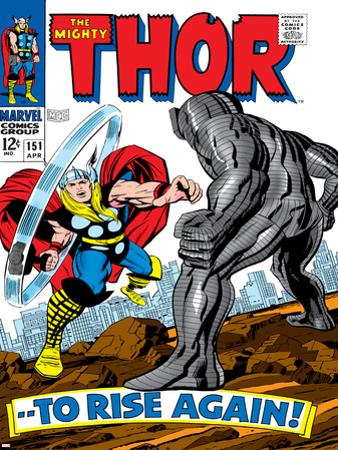 Marvel Comics Retro: The Mighty Thor Comic Book Cover No.151 --To Rise Again!