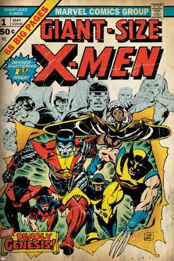 Marvel Comics Retro: The X-Men Comic Book Cover No.1 (aged)