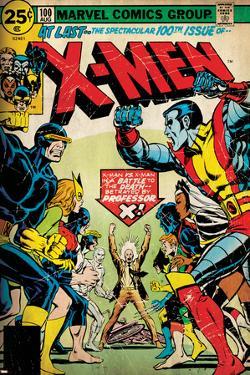 Marvel Comics Retro: The X-Men Comic Book Cover No.100, Professor X (aged)