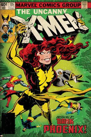 Marvel Comics Retro: The X-Men Comic Book Cover No.135, Phoenix (aged)