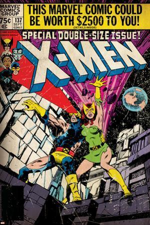 Marvel Comics Retro: The X-Men Comic Book Cover No.137, Phoenix, Colossus (aged)