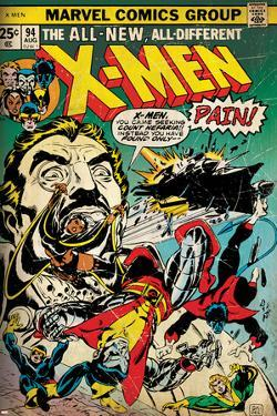 Marvel Comics Retro: The X-Men Comic Book Cover No.94, Colossus, Nightcrawler, Cyclops (aged)