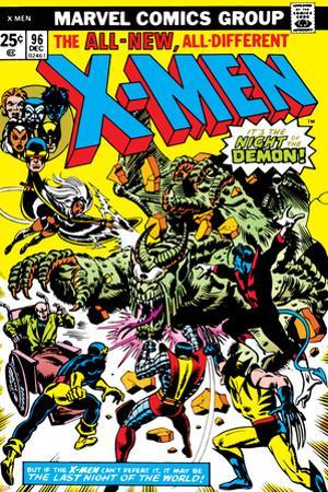 Marvel Comics Retro: The X-Men Comic Book Cover No.96, Fighting the Night Demon