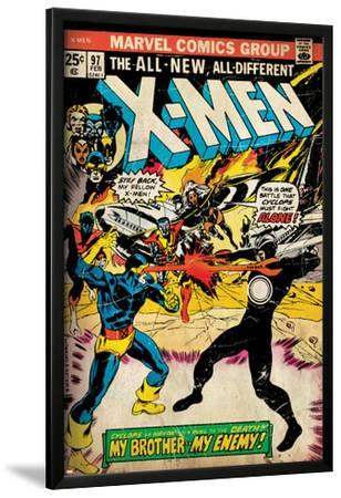 Marvel Comics Retro: The X-Men Comic Book Cover No.97, Havok, My Brother-My Enemy! (aged)