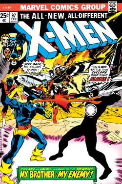 Marvel Comics Retro: The X-Men Comic Book Cover No.97, Havok, My Brother-My Enemy!