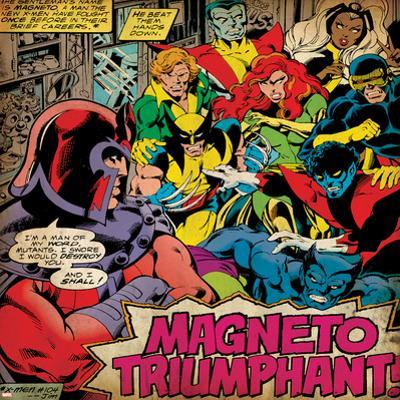 Marvel Comics Retro: X-Men Comic Panel (aged)