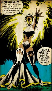 Marvel Comics Retro: X-Men Comic Panel, Storm (aged)