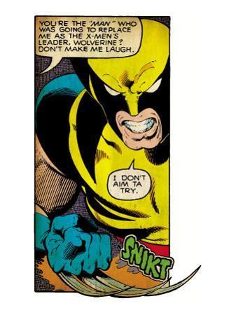 Marvel Comics Retro: X-Men Comic Panel, Wolverine (aged)
