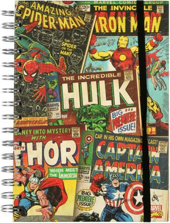 Marvel Cover Collage Spiral Journal
