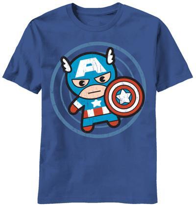 Marvel Kawaii - Cap in Circle (Slim Fit)