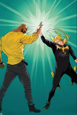 Marvel Knights Cover Art Featuring: Luke Cage, Iron Fist