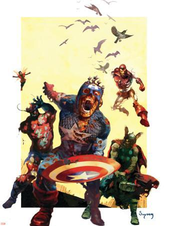 Marvel Zombies #2 Cover: Captain America, Iron Man, Wasp and Thor