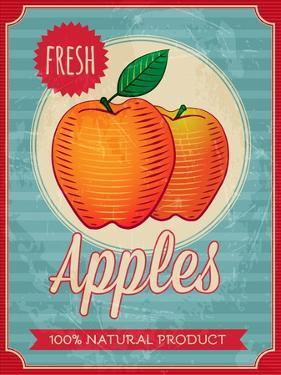 Vintage Styled Fresh Apples by Marvid