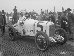Driver and No.5 Racecar, Tacoma Speedway, Circa 1919 by Marvin Boland