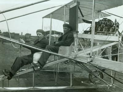 Harvey Crawford in Biplane, 1912 by Marvin Boland