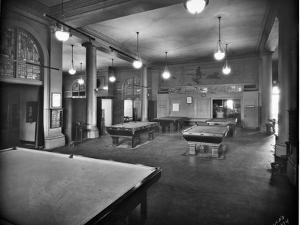 Tacoma Elks Club Billiard Room, 1925 by Marvin Boland