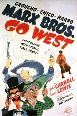 """Marx Brothers Go West, 1940 """"Go West"""" Directed by Edward Buzzell"""