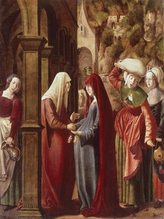 The Visitation, Detail from Scenes of the Life of the Virgin, 1511