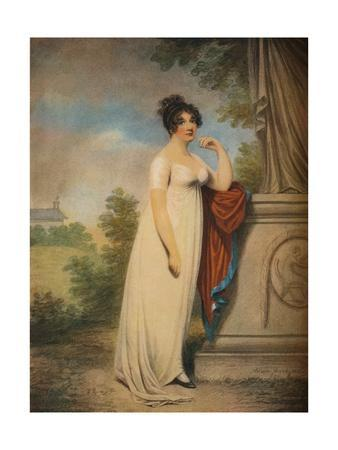 'Mary Anne Clarke at the base of a statue',1803